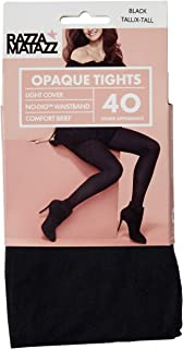 Razzamatazz Women's Pantyhose 40 Denier Comfort Brief Opaque Tights
