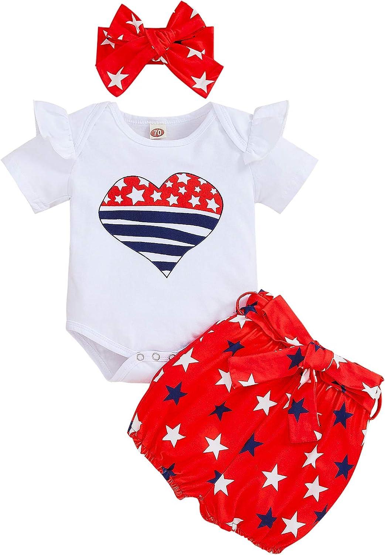 Baby Girl One Birthday Outfits Ruffle Sleeve Romper+Strawberry Shorts+Headband 3Pcs Summer Clothes