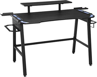 "RESPAWN Gaming Desk, 23.625"" D x 52.625"" W x 34.625"" H, Blue"