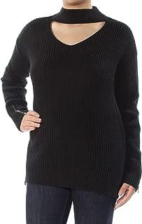 Womens Wool Blend Long Sleeves Choker Sweater