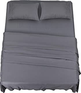 Utopia Bedding Bed Sheet Set - 4 Piece Full Bedding - Soft Brushed Microfiber Fabric - Shrinkage & Fade Resistant - Easy Care (Full, Grey)