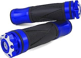 CNC Alu Lenkergriffe Peugeo t Speedfight 3, 4, Trekker, TKR, V Clic, Tweet, RS, Elystar, Elyseo, Tweet (Xtreme/Blau)