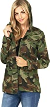 Ambiance Women's Juniors Camouflage Army Print Utility Cargo Jacket