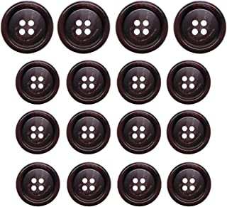 NEW 15 3//4 INCH BROWN WOOD CUT DESIGN BUTTONS 2 HOLE W//RIM
