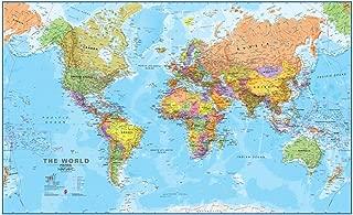 Maps International Giant World Map – Mega-Map Of The World – 78 x 48 - Front Lamination - Political