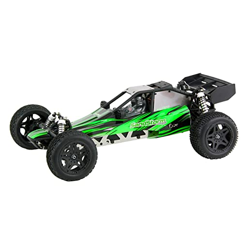 XciteRC 30200000 - Macchina radiocomandata SandStorm one8 Dune Buggy Brushless, 2 ruote motrici, Ready To Race, in scala 1:8 con radiocomando a frequenza 2.4 GHz, colore: Verde