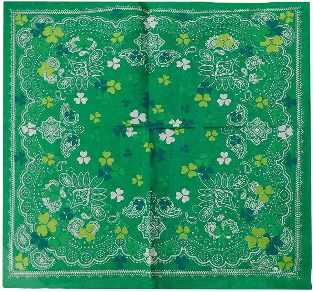 Paisley Three Leaf Clover Green bandana 22