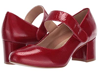 Walking Cradles Jackie-2 (Red Tumbled Patent) Women