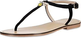 Saint G Womens Black Napa Leather Flats