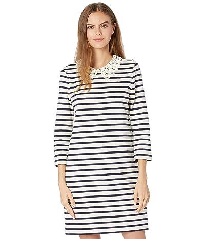 Kate Spade New York Lace Collar Striped Tee Dress