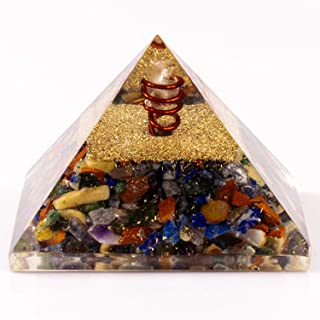 Divine Magic Crystal Pyramids for Healing Energy Generator Orgone Seven Chakra Activate and Balance The 7 Chakras, Bringing Overall Harmony in Life   EMF Protection Pyramid