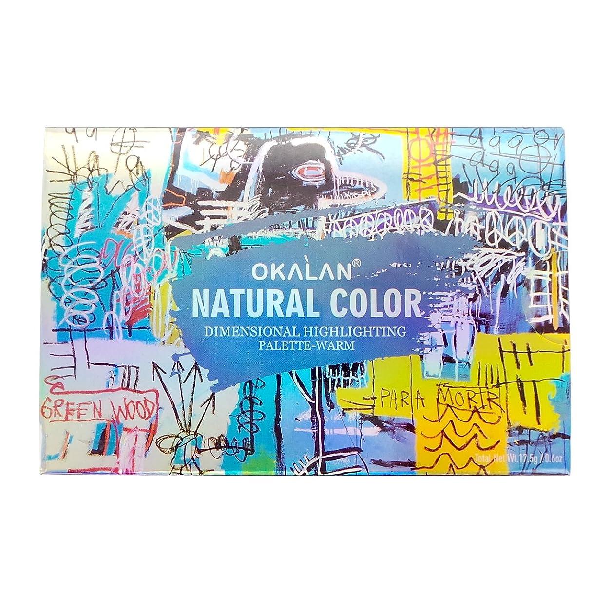 れんが乗り出す蒸し器(3 Pack) OKALAN Natural Color Dimensional Highlight Palette - Warm (並行輸入品)