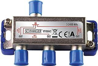 Schwaiger VTF8843241 High End Verteiler 3 Fach für BK  und GA Anlagen (110 dB)