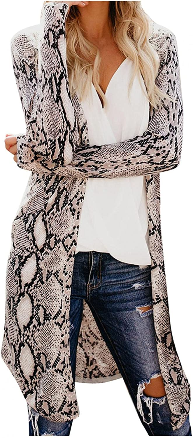 Cardigans for Women,Women's Open Front Cardigan Long Sleeves Lightweight Outwear with Pockets