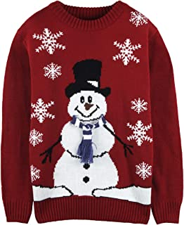 Pink Queen Women's Knitted Pullover Ugly Christmas Sweater Jumpers