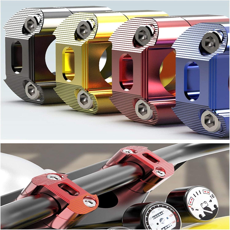 Color : Gold XIAOYING Motocicleta de Aluminio Grifo Orificio de Tornillo de 28 mm de 1-1//8  Pulgadas Manillar Riser Abrazadera de Montaje