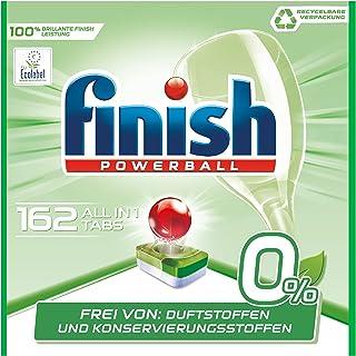 Finish 0% All in One Diskmaskinflikar Fosfatfria Utan Doft Diskmaskinstabletter, 4 Paket med 27