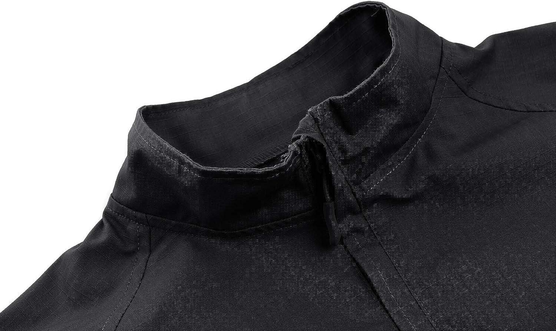 CRYSULLY Mens Military Shirt Pullover Long Sleeve Army 1//4 Zip Tactical T-Shirts