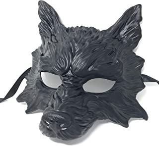 ] Wolf Mask Steampunk Style Scary Horror Devil Wolf Animal Masquerade Halloween Costume Cosplay Party mask