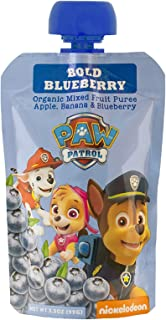 Paw Patrol Bold Blueberry Organic Mixed Fruit Squeeze Pouch, 3.5 Ounce, Pack of 10