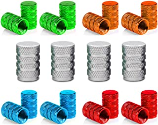 Senven 20 Pcs hochwertige Farbe Aluminium Ventilkappen, Reifenventil Staubkappen Auto, Motorrad, Lkw, Fahrrad verhindern Luftleckage   Universal Reifenventilkappen