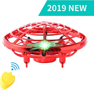 Flying Toys for Kids Mini UFO Drone Hand Operated Drones with 2 Speed, Easy Indoor Outdoor Flying Ball Drone Toys, Great Flying Drone Gift for Boys/Girls, USB Charging and Remote Controller