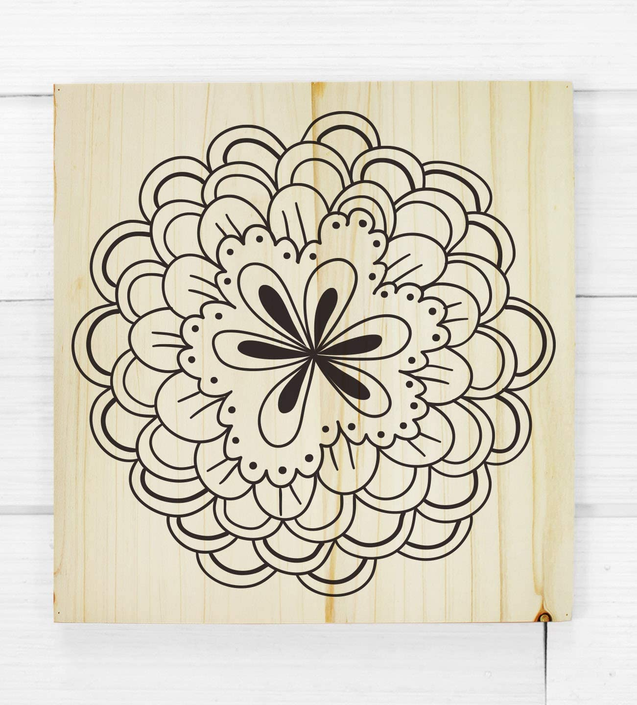Darware Blank Wood Plaques 2-Pack, Unfinished Natural Fir Wooden Sign for DIY Crafts 12x12 Inch