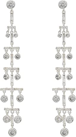 Crystal Drops Linear Post Earrings