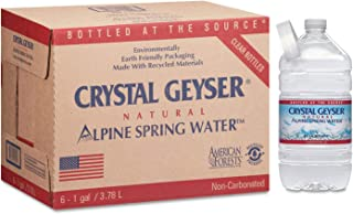 Crystal Geyser Alpine Spring Water, 128 Fluid Ounce (Pack of 6)