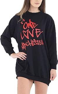 One Love Manchester Printed Shirt Ladies Long Sleeve Novelty Sweatshirt Top