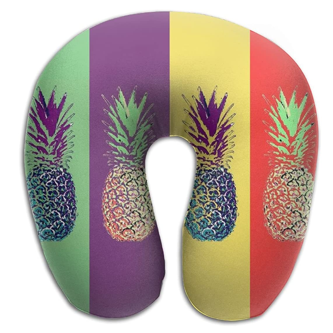 Memory Foam Neck Pillow Pineapple Comfy Soft U-Shape Cervical Pillow Head Support For Travel Office Sleeping