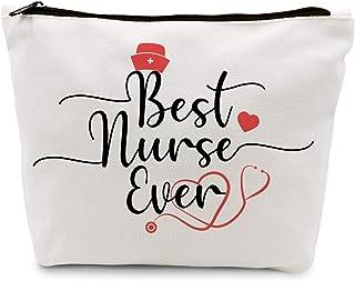 Ihopes Best Nurse Ever Cotton Makeup Zipper Pouch Bag   Nurse Practitioner Cosmetic Accessories Bag Make-Up Toiletry Case ...