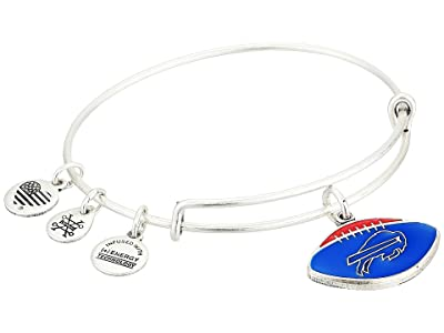Alex and Ani Color Infusion Buffalo Bills Football II Bangle (Rafaelian Silver) Bracelet