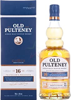 """Old Pulteney 16 Years Old Single Malt Scotch Whisky Traveller""""s Exclusive Whisky 1 x 0.7 l"""