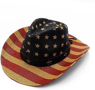Cowboy Hats, Classic American Flag Summer Sunhat Western Cowboy Hat for Men Boys Kids