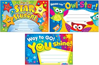 Colorful Recognition Award Certificates for Students and Professionals | I'm a Star Student, Hooo-ray Owl Stars, Way to Go...