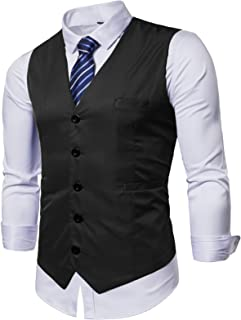 AOYOG Mens Formal Business Vest for Suit or Tuxedo