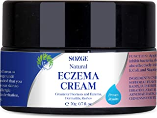 SOZGE Eczema Cream, Cream for Psoriasis and Eczema, for Dermatitis and Rashes, Natural Ingredients, Soothes Irritated and Cracked Skin, Instant Relief