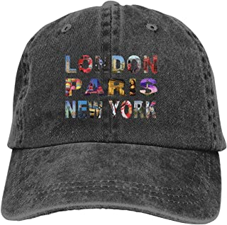Couleur cr/ème avec drapeau Union Jack brod/é avec London England Souvenir de Londres Casquette de baseball
