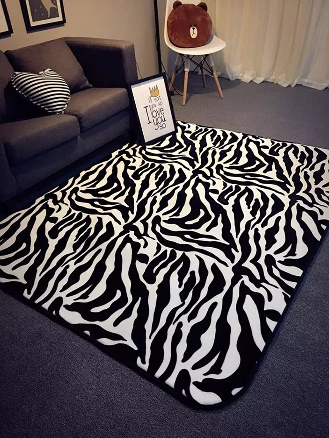 Padded stripe mat Fashion personality mat Living room Bedroom mats-C 60x180cm(24x71inch)