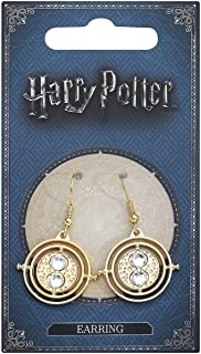 HARRY POTTER Hermione's Time Turner Mujer Pendientes Dorado,