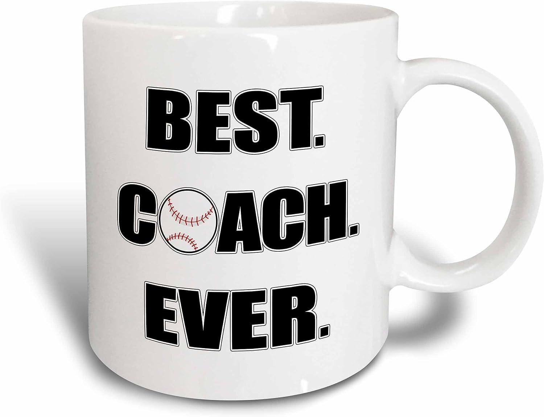 Amazon Com 3drose Baseball Best Coach Ever Ceramic Mug 11 Oz White Kitchen Dining