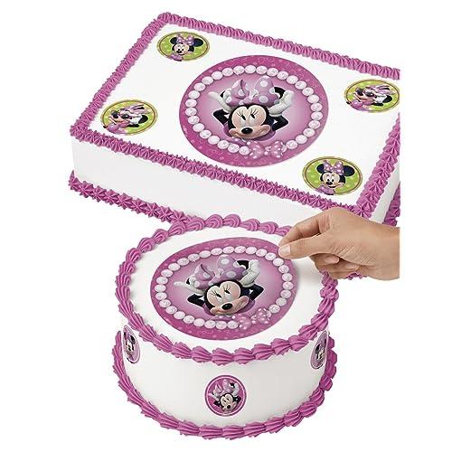 Wilton 71-6362 Minnie Mouse Edible Images Cake Decorating Kit, Multicolor