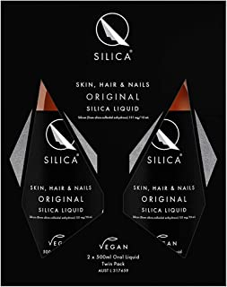 Qsilica Skin, Hair & Nails Original Silica Liquid Twin Pack, 1000 milliliters