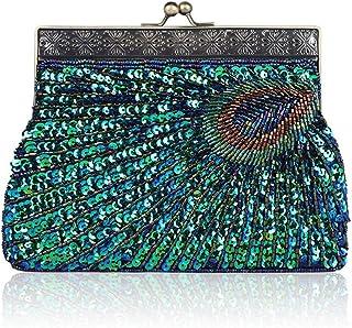 ETH Hand Shoulder Messenger Bag Banquet Bag Retro Fashion Exquisite Beaded Dress Accessories Piece Package 22CM * 4CM * 14CM Hand Bag