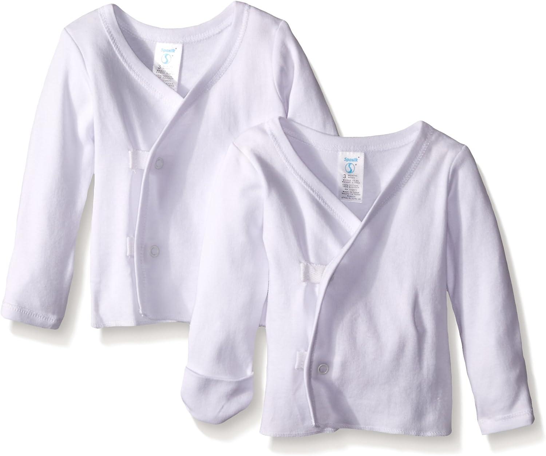Spasilk Unisex Baby Infant 2 Pack Long Sleeve Side Snap Tee