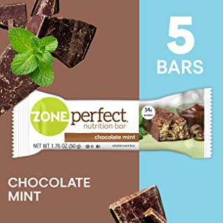 ZonePerfect Protein Bars, Chocolate Mint, High Protein, With Vitamins & Minerals (5 Count)