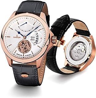 Kronsegler - Genius Horarium Mechanicus - Reloj de Pulsera automatico Plateado y Oro Rosa