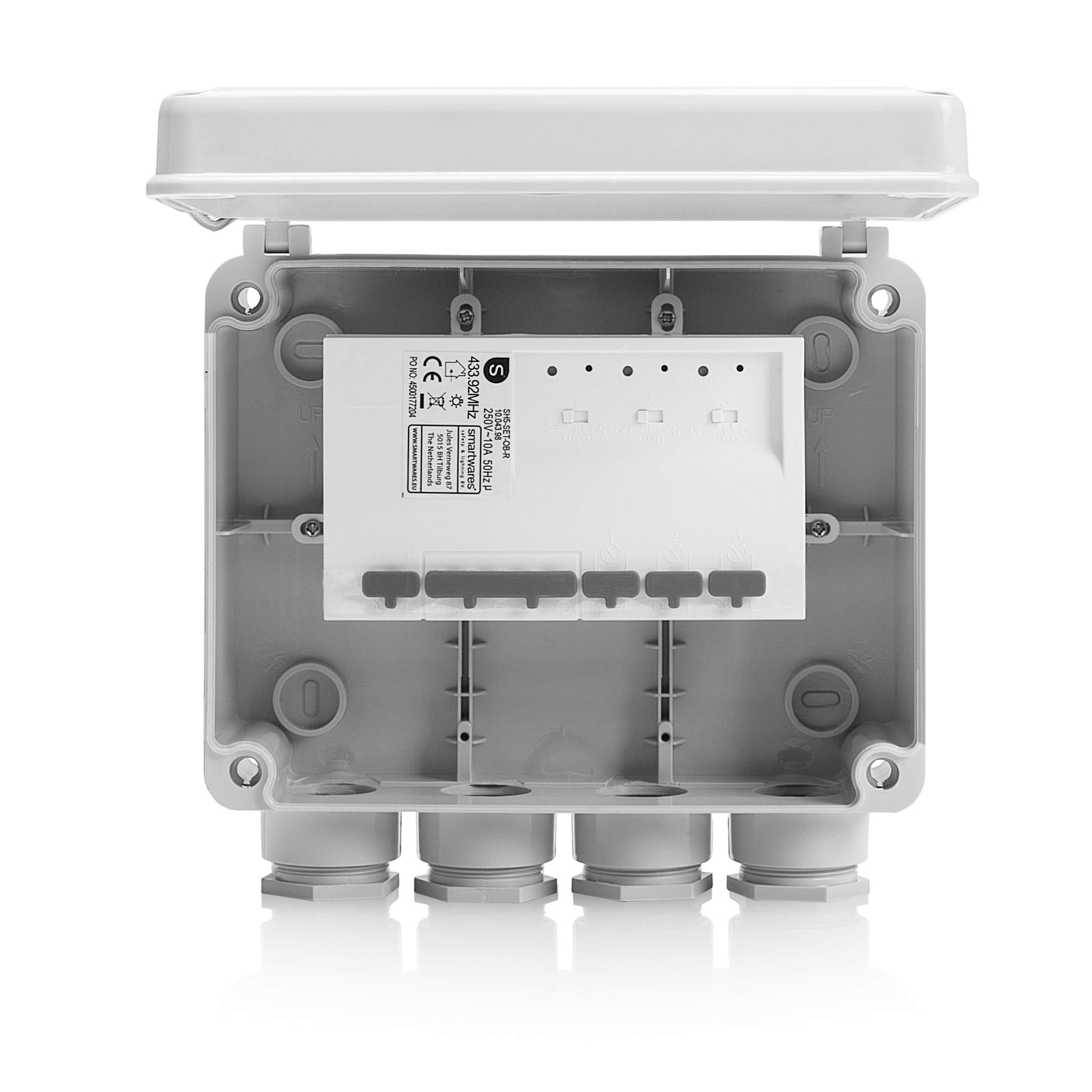 Smartwares 10.043.98 SH5-SET-OB Caja de enchufes para Exterior ...