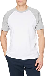 Urban Classics Men's Baseball T-Shirt, Contrast Shortsleeves T-Shirt, Sports Shirt, Crew Neck, 100% Jersey Cotton, Differe...
